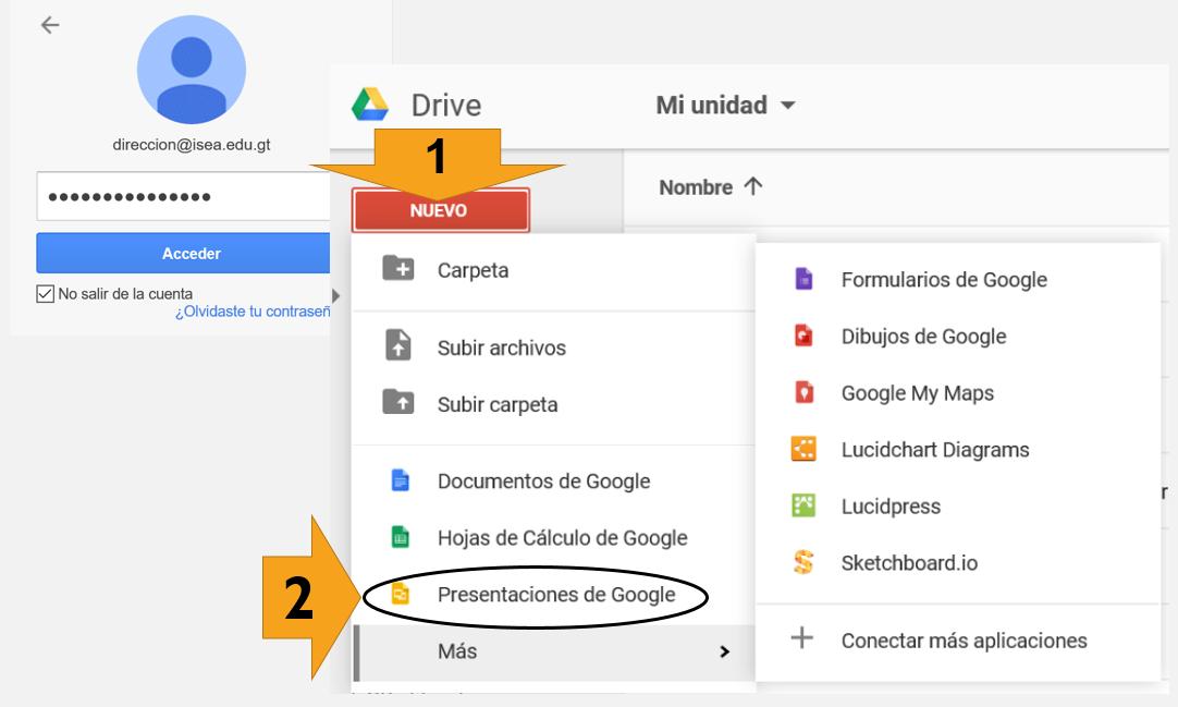cómo crear presentaciones con google drive isea guatemala